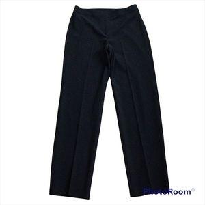 St John Caviar Dress Pants Size 10 Black Straight Leg